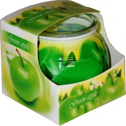 Sviečka MIRAL GREEN APPLE v skle