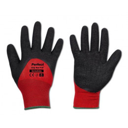 Rukavice ochranné PERFECT GRIP RED FULL, latex, velkosť 9